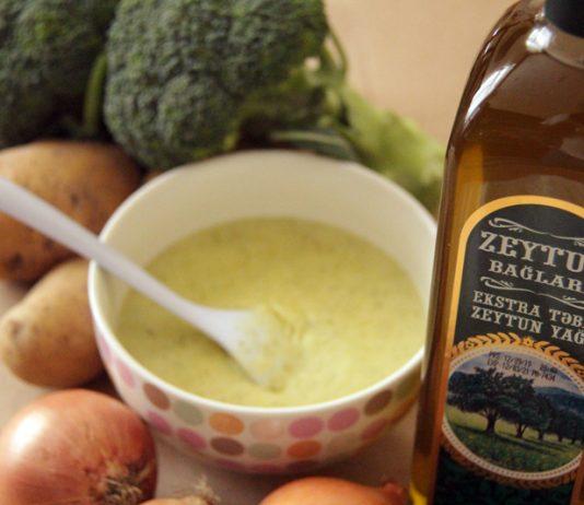 Pendirli brokoli Şorbası zeytun bağları