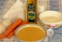 Manna yarmalı tərəvəz şorbası (1 yaş+) yemek resepti